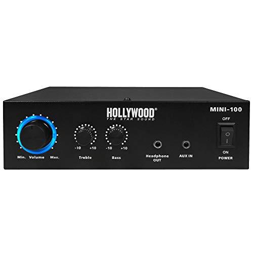 Hollywood Amplificateur Hi-FI Mini 100 The Starsound - 230 V ou 12 V - 100 W - Niveau de Fin HiFi
