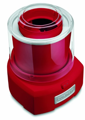 Cuisinart ICE21R Frozen Yogurt Automatic Ice Cream and Sorbet Maker,120 V, Thermoplastic, 1-1/2 qt, Red