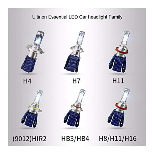Hxfang LED H4 H7 H8 H11 H16 9005 9006 9012 HB3 HB4 H1R2 Ultinon LED esencial coches 6000K blanco de la linterna Auto Bombillas Lámparas de niebla 2X Ahora caliente ( Socket Type : H4/9003/HB2 Hi/Lo )