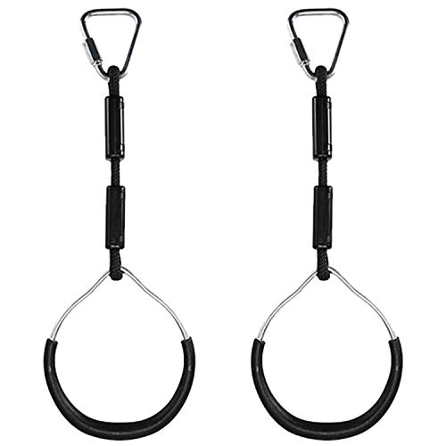 SNOWINSPRING 2Pcs Swing Bar Rings Kids Gymnastic Rings Wear Resistant for Climbing Frames and Garden Swings Outdoor Backyard