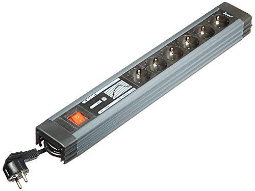 REV 0015663513 Supraguard, 6fach Steckdosenleiste, Überspannungss. 3m,, schwarz