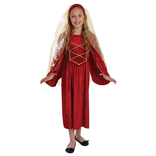 Fun Shack Déguisement pour Enfant Costume de Princesse Tudor Rouge pour Fille - Taille L