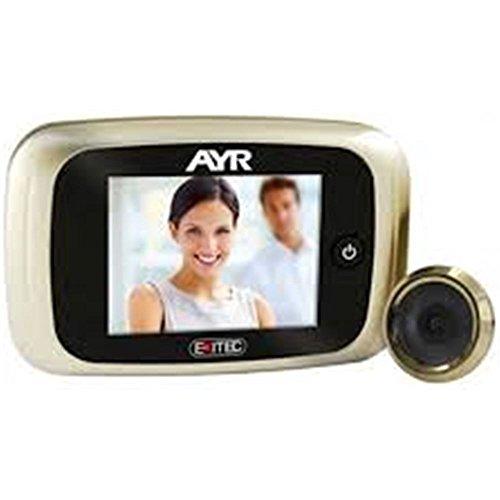 AYR 753 - Mirilla digital, níquel mate y latón