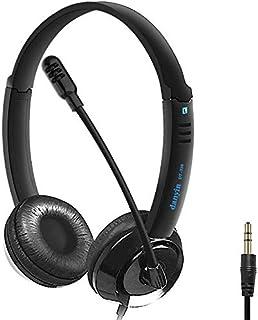 3,5mm Casque PC avec Micro Anti-Bruit et Contrôle Volume, Casque pour Téléphone Filaire Portable pour PC Skype et Plupart ...