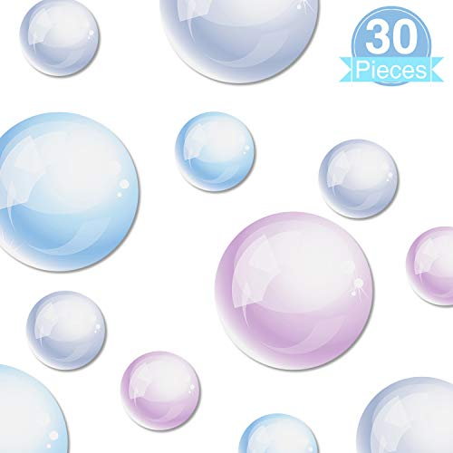 30 Pieces Bubble Cutouts Sea Ocean Themed Cutouts for Mermaid Theme Home Room Accessory Birthday Prom Wedding Baby Shower Party Supply School Bulletin Board Decoration