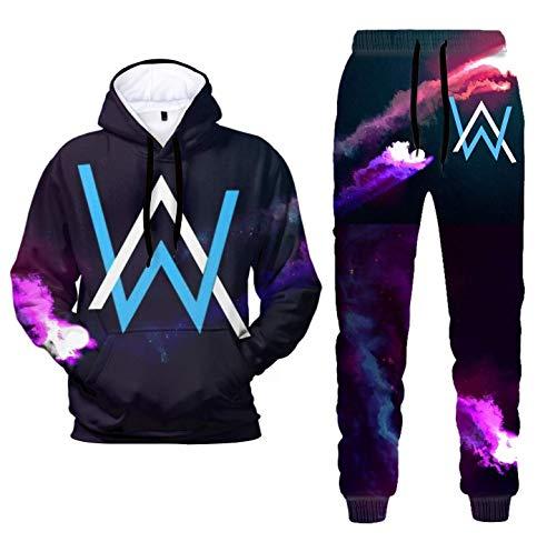 3D Druck Alan Walker Pullover Hoodie und Sweatpants Anzüge Mode Casual Zweiteilige Sweatshirt Anzüge für Männer Frauen Gr. Large, 5. Alan Walker