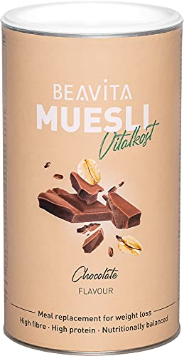 BEAVITA Muesli - Chocolat 500 g - muesli au chocolat délicieusement croquant et riche en protéines - haute teneur en protéines et en fibres – pour une perte de poids saine