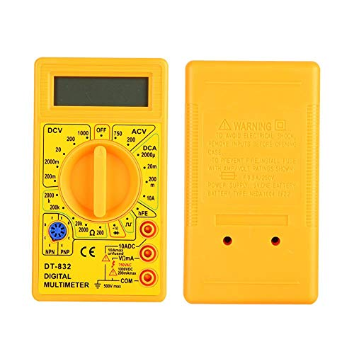 Great Deal! Digital Multimeter, with LCD Display Resistance Tester Multimeter, DT-832 Electrical Tes...