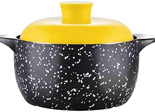 HYYDP Cacerolas Cazuela de Arcilla Pot Terracotta Stew Pot Casserole Casserole Clay Pot para cocinar - Nutrición Saludable, Duradera y fácil de Limpiar (Color : A, Size : Capacity3.9L)