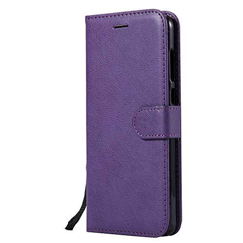 DENDICO Cover Huawei Mate 10 Lite, Premium Portafoglio PU Custodia in Pelle, Flip Libro TPU Bumper Caso per Huawei Mate 10 Lite - Viola