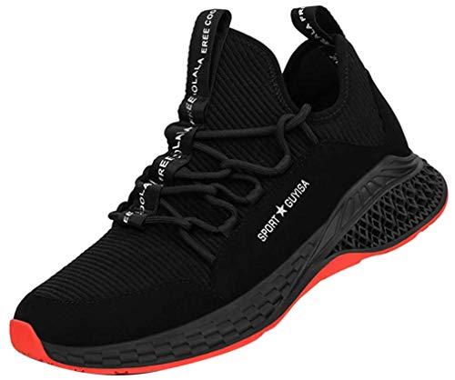 [tqgold] 安全靴 作業靴 スニーカー 軽量 鋼先芯 通気性 耐摩耗 耐滑ソール メンズ レディース ハイカット ブーツ 黒 作業 靴 仕事 工事現場 疲れない おしゃれ あんぜん靴 (黒 23.5cm)