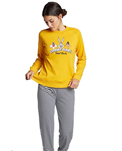 Pijama Rayas Looney Tunes Mujer (M,...