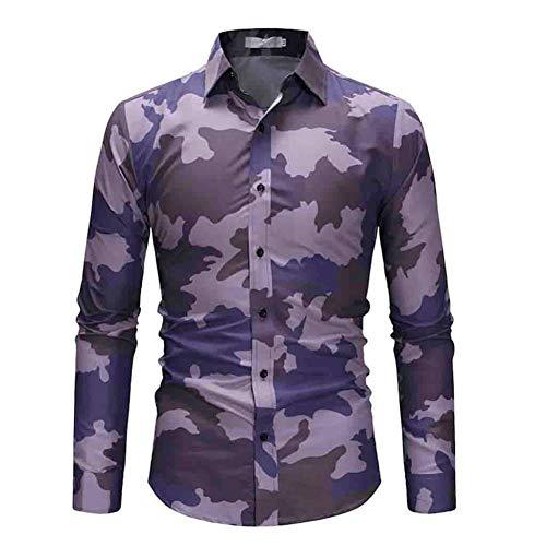 MUMU-001 Mannen shirt met korte mouwen camouflage bedrukte toets grote maat casual top blouse shirts draaien onder kraag chemicaliën