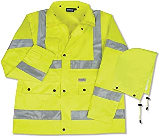 ERB 61484 S371 Class 3 Raincoat, Lime, 3X-Large