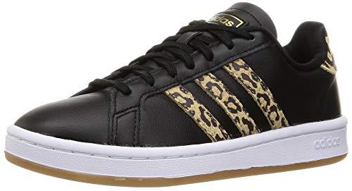 adidas Damen Grand Court Sneaker, Core Black/Core Black/Cardboard, 40 EU