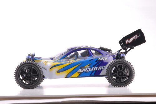 Exceed RC 1/10 2.4Ghz Hyper Speed Beginner Version .18 Engine Nitro Powered Off Road Buggy Fire BlueSTARTER KIT Required