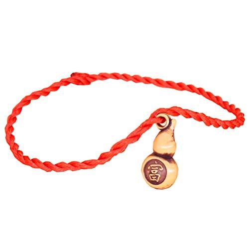 Pulsera china Feng Shui, cadena roja de 20,3 cm