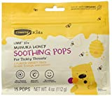 Comvita USA Comvita Kids Soothing Pops, Grape, Orange & Lemon, 15 Count (Pack of 12)