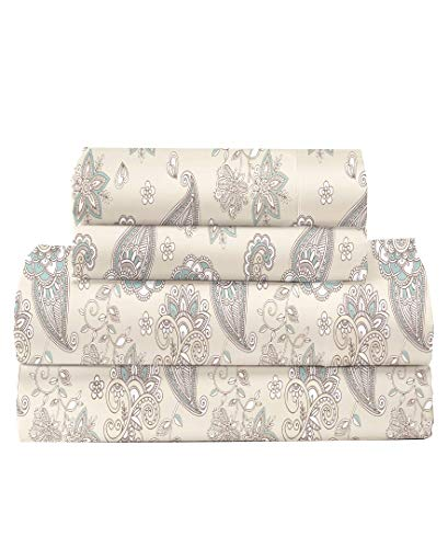 Feather & Stitch 300 Thread Count 100% Cotton Percale Weave Bed Sheets...