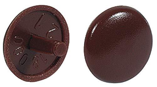 Gedotec buisstop bruin sluitstop kunststof schroefdop rondbaar | H1115 Hoogwaardige afdekkapjes 100 Stück Kunststof kersenbruin.