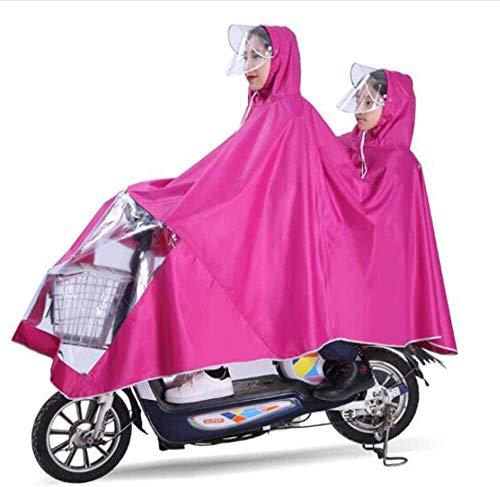 GUYUE Madre y el Niño Doble Diversión Poncho, Bicicletas eléctricas Doble Impermeable...