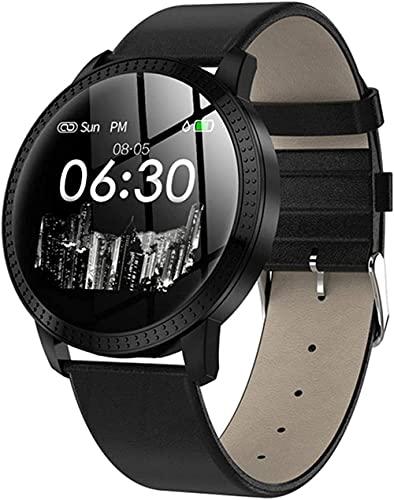 Panduo YLB Smart Watch Full Touch Mujeres IP67 Presión Arterial a Prueba de Agua Monitor de Ritmo cardíaco Redondo SmartWatch Bluetooth para Android Los (Color : D)