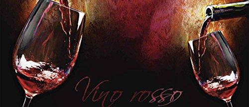 Artland Qualität I Glas Küchenrückwand ESG Spritzschutz Küche 120 x 51.4 cm Ernährung Genuss Getränke Wein Malerei Bordeauxrot G3DM Wein - Rotwein