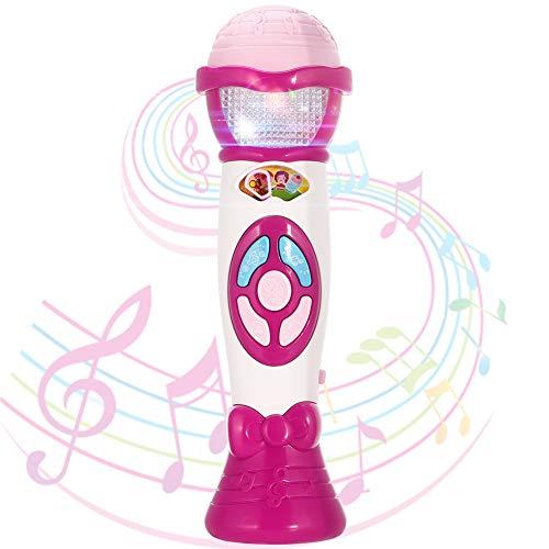 Twister.CK Kids Voice Changer Microphone Toy Karaoke Machine Toddler Recording, Riproduzione di Musica, luci Colorate, Giocattolo di Favore del Partito Grande Compleanno Ragazze Ragazzi, Rosa