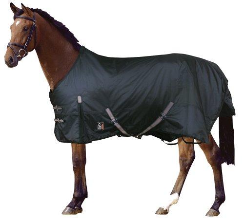 PFIFF 100262 Pferde Outdoor Decke, Regendecke Pferdedecke Weidedecke, schwarz 145cm