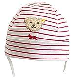 Steiff Collection Mädchen Baby Kindermütze Sweet Hearts rot-weiß Ringel, Gr. 41 (41)