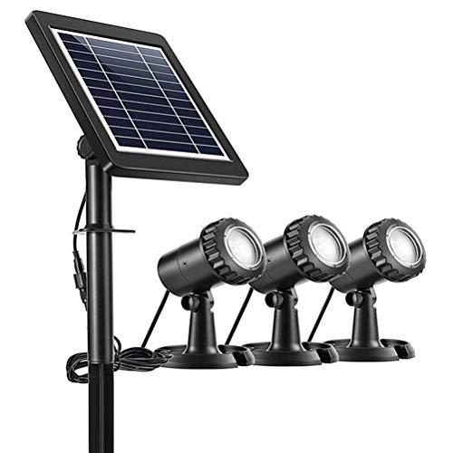 Holmeey Kit de luz solar para estanque, foco subacuático LED que cambia...