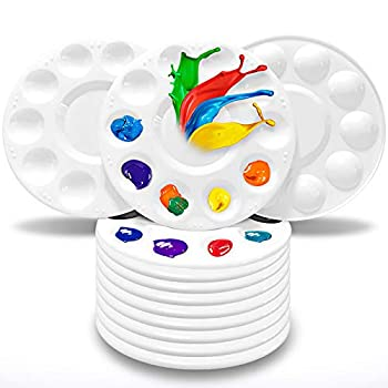 Hulameda Paint Tray Palettes Plastic Paint Pallets for Kids or Students to Paints on School Project or Art Class-12pcs