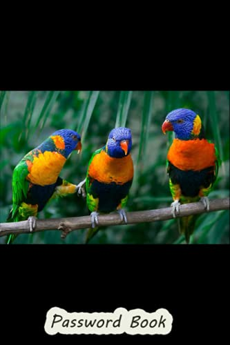 Password Book: Passwords Web Addresses Alphabetical Sort , Never Forget a Password Again , Password Notebook with Sort Printed, Password Organizer ... Password Keeper , Red Collared Lorikeet IV