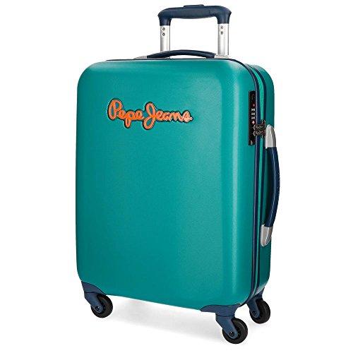 Pepe Jeans Bristol Maleta de cabina Verde 36,5x55x20 cms Rígida Cierre TSA 33L 2,6Kgs 4 Ruedas Equipaje de Mano