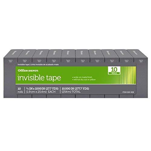 DIST PRIVATE LABEL Tape Transparent 0.75 X36 Yd Roll, 3000 CS