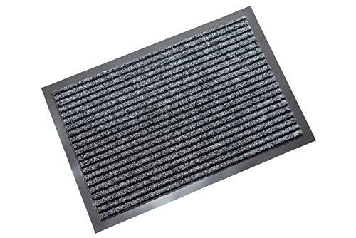 atumboso Fußmatte Innenbereich & Außen | 40 x 60 cm Schmutzfangmatte | Grau | Fußabtreter | Sauberlaufmatte