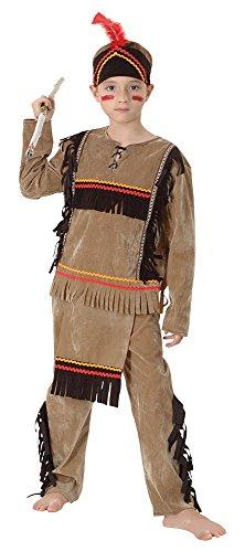 Bristol Novelty- Costume d'Indien pour Enfant Deluxe, Taille M, CC690, Multicolore, Moyen