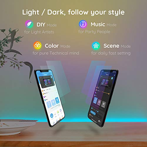 Govee RGB LED Strip Lights, Works with Alexa, Google Assistant, App Control for Room, 16.4 Feet 5