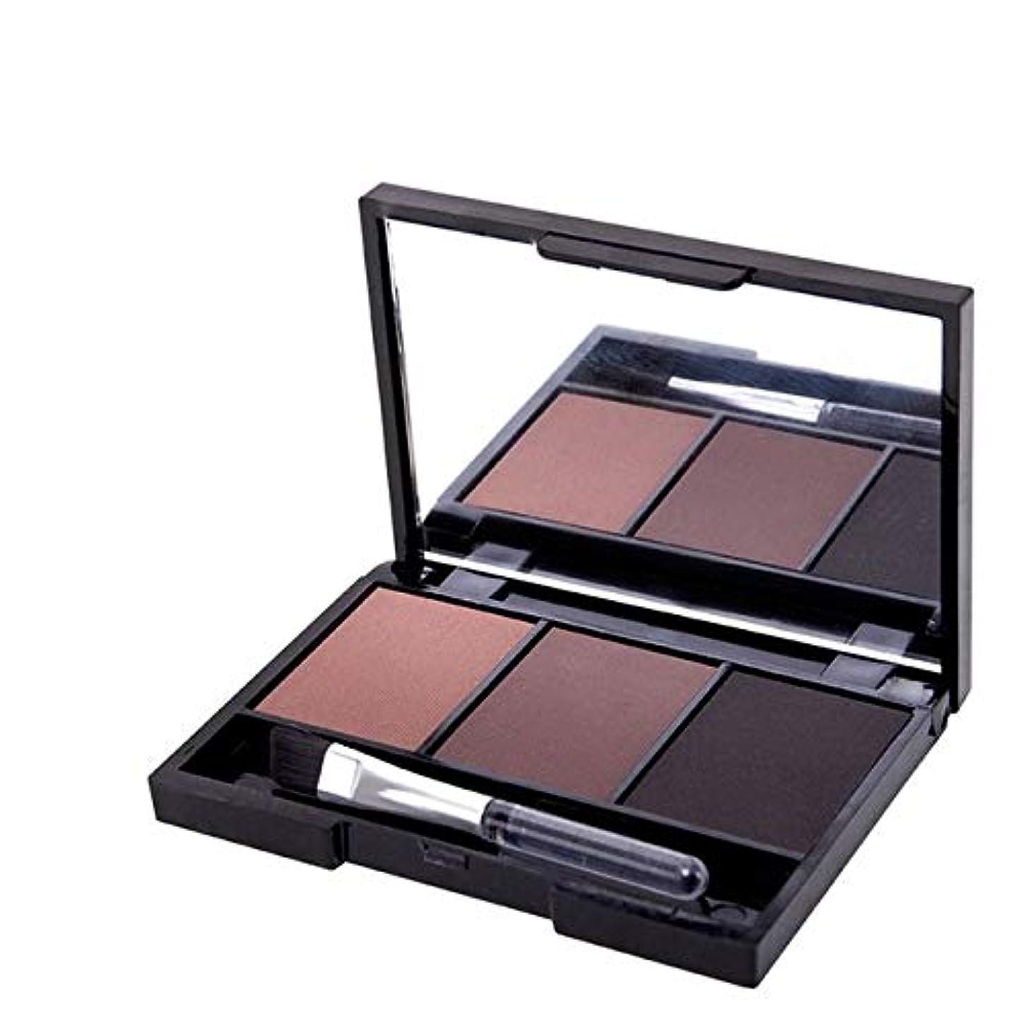 永続ナインへロープ健康と美容アイシャドウ プロフェッショナルキットロングラスティングアイブロウシャドウパレット、ソフトブラシとミラー付き(1) 化粧 (色 : 3)