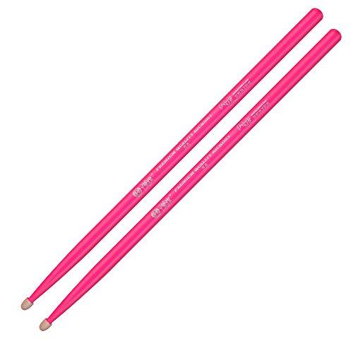 Hickory Fluorescent Drum Sticks - Multiple Colors