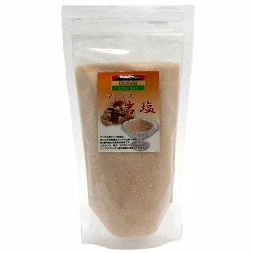 アンデス岩塩 ピンクソルト パウダー(食用)500g入 ピンク岩塩