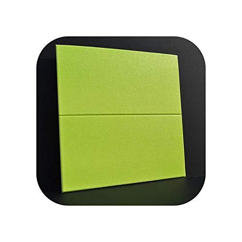 Wandaufkleber Wohnkultur |Neue 3D PE Schaum Flexible Imitation Leder Muster Wandaufkleber TV Sofa Wanddekoration Geprägte Soft Case DIY Kunst Poster-Apple Green-