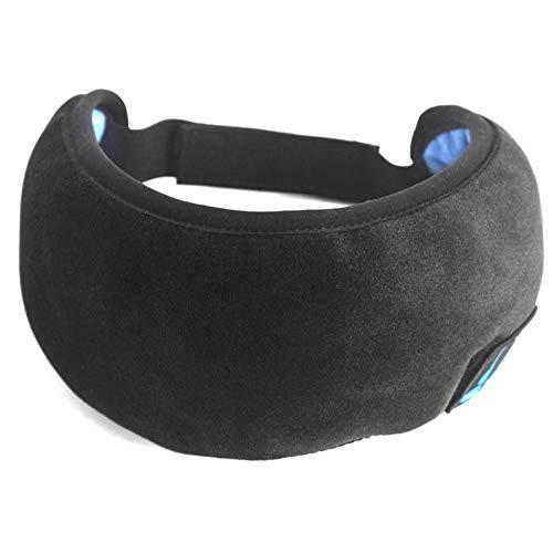 MCYT Bluetooth 5.0 Augenbinde, 3D-Schlaf-Kopfhörer, kabellos, Musik, weich, bequem, Schlaf-Augenbinde für Reisen, Zuhause, Yoga, Nacht, Hilfe Lidschatten-Abdeckung