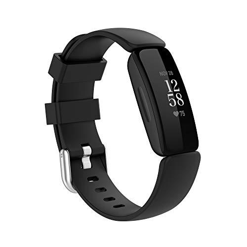 BoLuo Correa para Fitbit Ace3/Inspire 2,Bandas Correa Repuesto,Correas Reloj,Silicona Reloj Recambio Brazalete Correa Repuesto Strap Wristband para Fitbit Ace3/ Inspire 2 Accessories (negro, S)
