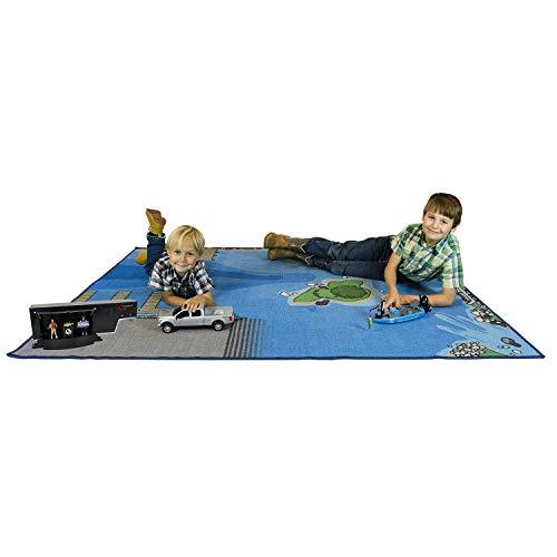 "Big Country Toys Jumbo Fishing Play Mat - Measures 58"" x 79"" - Fishing Play Set Accessory - Lake Design for Fishing Fun"