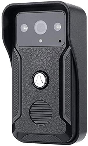 DZCGTP Video LCD con Cable Videoportero Teléfono Visual Video Intercomunicador Altavoz Sistema de intercomunicación con Timbre con cámara IR Impermeable al Aire Libre