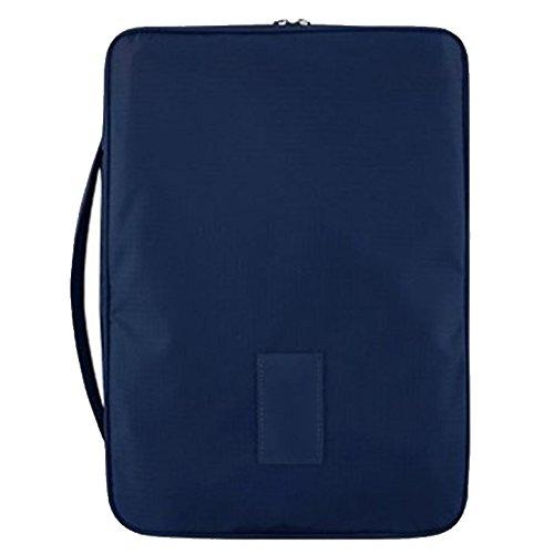 Gosear Multi-funzionale Portable Viaggi In viaggio Camicia Organizzatore Cravatta Deposito Borsa Sacchetto Bagagli Imballaggio per Uomini Zaffiro Scuro Blu