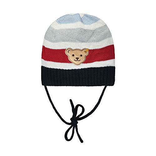 Steiff Baby-Jungen mit süßer Teddybärapplikation Mütze, Navy, 049