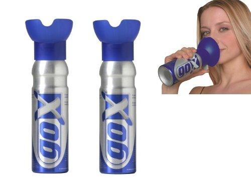 GOX Set mit 2Sauerstoffflaschen, reiner Sauerstoff, 6Liter, für Entspannung und Wohlbefinden