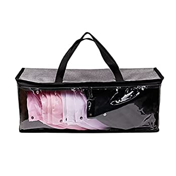 Hat Storage /Organizer ,Baseball Cap Holder,Hat Case with Carry Handles and Dual Zipper,Portable,Visible ,Dust Proof Design,Holds Up to 19 Hats  Gray